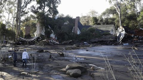 A damaged home is seen in Montecito on January 10, 2018.