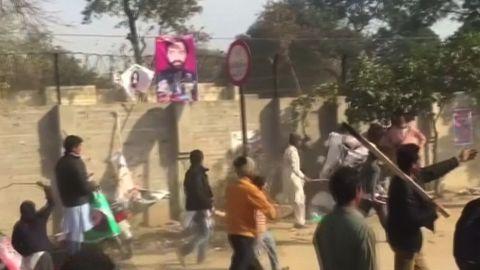 Pakistan rally Zainab