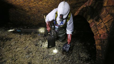 Fatbergs form because the fat, cooling down, becomes a solid and lumps around items such as nappies and wet wipes. The mixture then sticks to sewer walls and hardens, which makes removal a tough job.