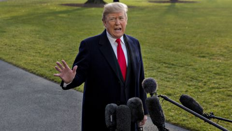 U.S. President Donald Trump speaks to members of the media before boarding Marine One on the South Lawn of the White House in Washington, D.C., U.S., on Monday, Dec. 4, 2017. Trump today endorsed Alabama Republican Roy Moore in a U.S. Senate special election, despite allegations from multiple women who accused the former state Supreme Court justice of sexual misconduct. Photographer: Andrew Harrer/Bloomberg via Getty Images