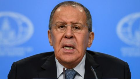 """Russian Foreign Minister Sergey Lavrov says he expects UK diplomats to be expelled from Russia """"soon""""."""