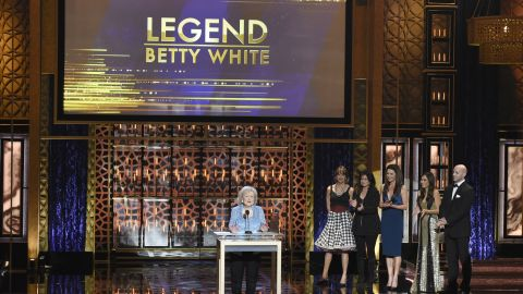 White accepts the Legend Award at the TV Land Awards in 2015.