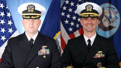Cmdr Bryce Benson, left, and Cmdr Alfredo J. Sanchez, right.