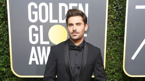 Zac Efron at the 75th Golden Globe Awards in Beverly Hills on January 7, 2018