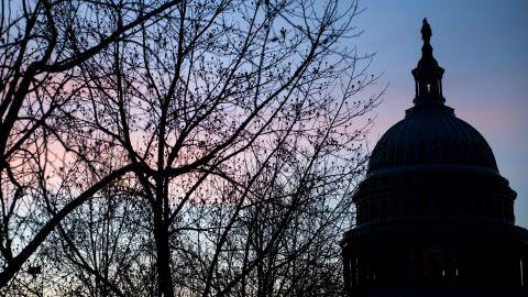 A view of Capitol Hill January 17, 2018 in Washington, DC. / AFP PHOTO / Brendan Smialowski        (Photo credit should read BRENDAN SMIALOWSKI/AFP/Getty Images)
