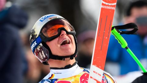 <strong>Surprise winner: </strong>Germany's Thomas Dressen pulled off a shock win with his first World Cup victory -- and in the legendary Kitzbuhel downhill.