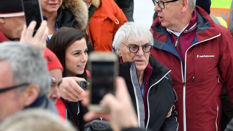 <strong>Celeb-tastic:</strong> Former F1 supremo Bernie Ecclestone was also among the crowd.