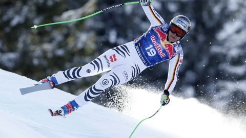 <strong>History maker:</strong> Dressen earned only his second World Cup podium finish and became the first German since 1979 to win the revered Kitzbuhel downhill.