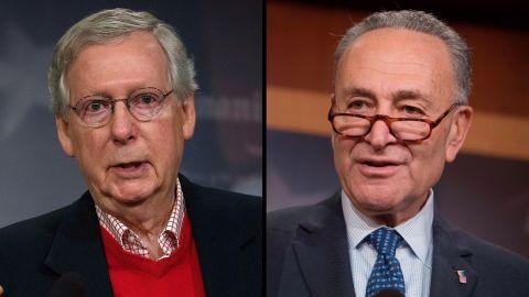 Senate Minority Leader Chuck Schumer and U.S. Senate Majority Leader Sen. Mitch McConnell.