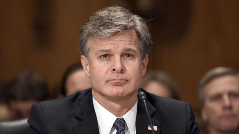 """Christopher A. Wray, Director, Federal Bureau of Investigation (FBI) testifies before the United States Senate Committee Homeland Security and Governmental Affairs on """"Threats to the Homeland"""" on Capitol Hill in Washington, DC on Wednesday, September 27, 2017."""