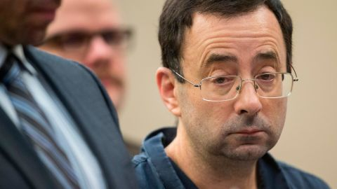 Larry Nassar was sentenced to decades in prison Wednesday.