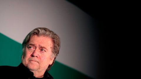 WASHINGTON, DC - OCTOBER 23: Steve Bannon, former White House chief strategist and chairman of Breitbart News, attends a discussion on countering violent extremism, at the Ronald Reagan Building and International Trade Center, October 23, 2017 in Washington, DC. The program was focused on issues of extremism in the Middle East, including Qatar, Iran and the Muslim Brotherhood. (Photo by Drew Angerer/Getty Images)