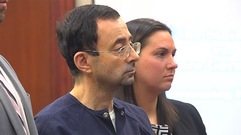 Larry Nassar was sentenced in January to 40 to 175 years in prison after pleading guilty to seven counts of criminal sexual conduct in Ingham County, Michigan.