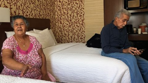 Lucia Alicea and her husband Bienvenido Ramirez have been staying at the hotel since December.