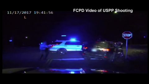 Dashcam footage released by the Fairfax County Police Department shows officers pursuing the 25-year-old driver before he is shot by the US Park Police.
