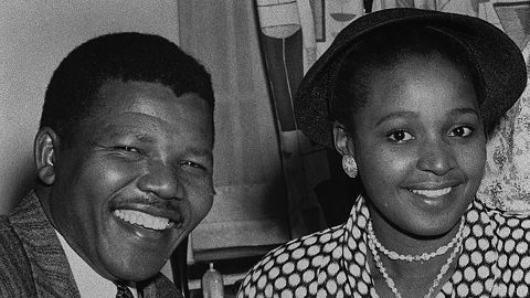 The Mandelas were married for 38 years, including the 27 years that he was imprisoned on an island near Cape Town, South Africa.