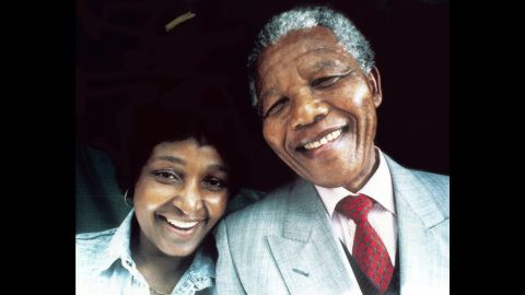 A portrait of the Mandelas. The pair divorced in 1996.