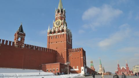 The Kremlin wall and towers dominate the skyline at the Red Square in Moscow, on March 2, 2012. Russia on March 4 votes in presidential elections expected to send Vladimir Putin back to the Kremlin after his four year stint as prime minister.  AFP PHOTO / SERGEI SUPINSKY        (Photo credit should read SERGEI SUPINSKY/AFP/Getty Images)