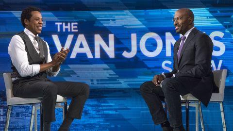 "CNN host Van Jones interviews Shawn ""Jay-Z"" Carter on the first episode of ""The Van Jones Show"" on Saturday, Jan. 27, 2018 in New York, NY.Photo by John Nowak/CNN"