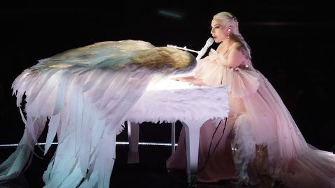 Lady Gaga performs during the show's first hour.