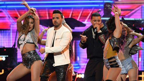 """Luis Fonsi and Daddy Yankee are joined by dancers for their hit song """"Despacito."""""""