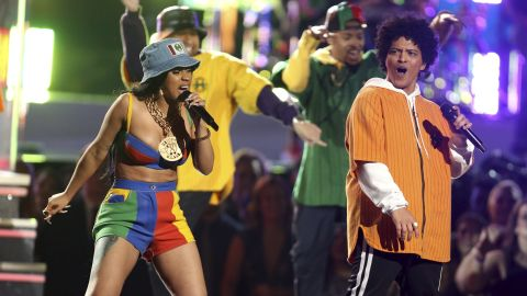 """Cardi B and Bruno Mars perform """"Finesse."""""""
