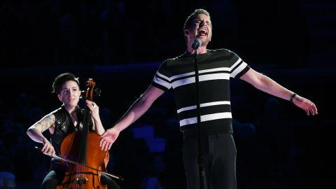 "Actor Ben Platt, star of the Broadway musical ""Dear Evan Hansen, sings ""Somewhere."""