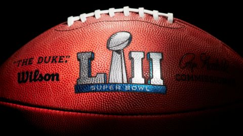 An official ball for Sunday's Super Bowl between the New England Patriots and the Philadelphia Eagles.