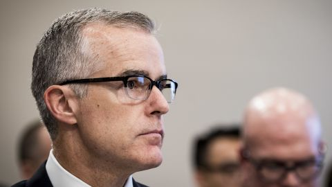 WASHINGTON, DC - JUNE 21:  Acting FBI Director Andrew McCabe testifies before a House Appropriations subcommittee meeting on the FBI's budget requests for FY2018 on June 21, 2017 in Washington, DC. McCabe became acting director in May, following President Trump's dismissal of James Comey.