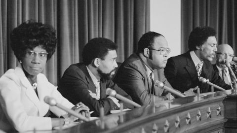 The largest known boycott of a president's address came in 1971 by all 12 African-American members of the House. They had asked President Richard Nixon for a meeting, which they said he refused. In turn, they skipped his speech. Among them were these Democratic members of the Congressional Black Caucus, from left: Reps. Shirley Chisholm of New York, Bill Clay of Missouri, Charles Diggs of Michigan, Ron Dellums of California and Augustus Hawkins of California. They were joined by Reps. John Conyers of Michigan, Charlie Rangel of New York, Louis Stokes of Ohio, Robert Nix of Pennsylvania, George Collins and Ralph Metcalfe of Illinois, and Parren Mitchell of Maryland.
