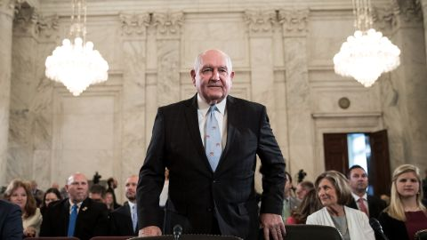 Sonny Perdue, President TrumpÕs nominee to lead the Agriculture Department, takes his seat as he arrives for his confirmation hearing before the Senate Committee on Agriculture, Nutrition, and Forestry on Capitol Hill, March 23, 2017 in Washington. Previously, Perdue served as the governor of Gerogia from 2003 to 2011. (Photo by Drew Angerer/Getty Images)