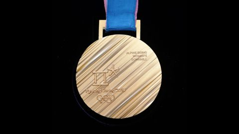 SEOUL, SOUTH KOREA - SEPTEMBER 21:  The back side of the gold medal on display at PyeongChang 2018 Olympic medal unveiling ceremony at the  Seoul Dongdaemun Design Plaza on September 21, 2017 in Seoul, South Korea.  (Photo by Chung Sung-Jun/Getty Images)