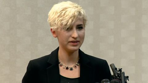 Thomashow speaks about her abuse after Nassar's sentencing in Ingham County.