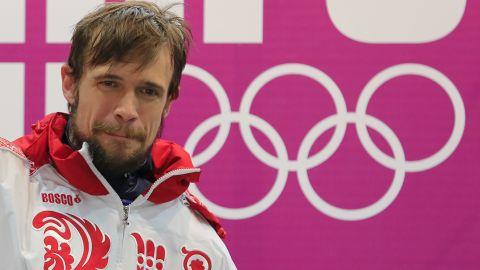 Russia's Alexander Tretiakov won a gold medal in the men's skeleton.