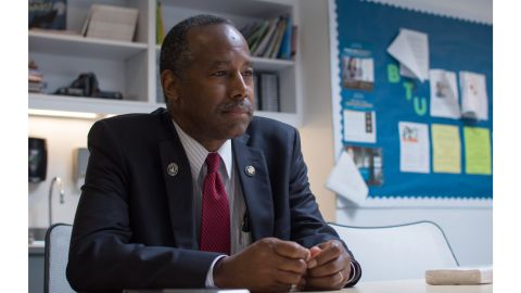 Dr. Ben Carson, the Secretary of Housing and Urban Development, visits Baltimore on Thursday, June 29, 2017, as part of a ''listening tour'' around the U.S., meeting with people at the annual Health Homes Community Fair. (Ulysses Munoz/Baltimore Sun/TNS via Getty Images)