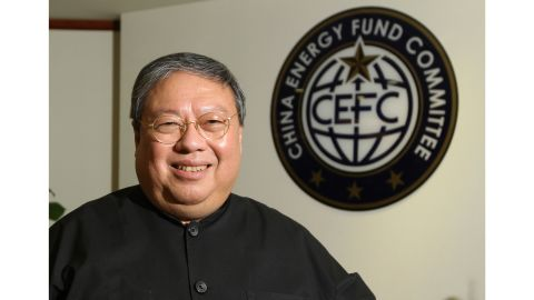 In this July, 2015, photo, Patrick Ho, former Hong Kong home secretary, deputy chairman of an non-governmental organization funded by CEFC China Energy poses during an interview in Hong Kong. The Chinese energy company denies it had anything to do with a multimillion dollar bribery scheme that U.S. prosecutors say was organized by two businessmen to secure business from African officials on its behalf. In a statement late Tuesday, Nov. 21, 2017, CEFC China Energy Co. sought to distance itself from the corruption, money laundering and conspiracy charges filed against Patrick Ho and Cheik Gadio, a former Senegal foreign minister. (AP Photo)