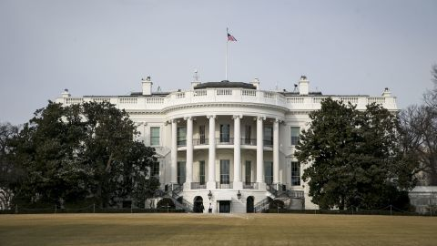 The White House is shown during departure by President Donald Trump for the congressional Gold Medal ceremony for former Senate Majority Leader Bob Dole at the U.S. Capitol January 17, 2018 in Washington D.C. (Al Drago-Pool/Getty Images)