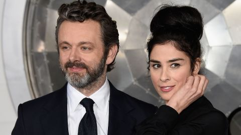 """In February comic Sarah Silverman<a href=""""https://twitter.com/SarahKSilverman/status/960589708400017408"""" target=""""_blank"""" target=""""_blank""""> tweeted </a>that she and """"Masters of Sex"""" star Michael Sheen broke up after four years. She chalked it up to their long distance relationship."""