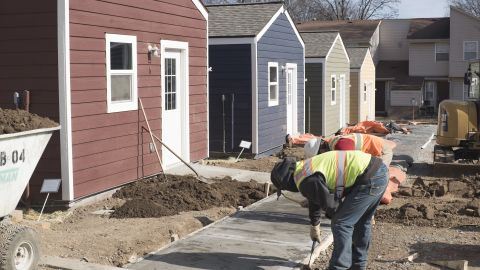 As construction crews put the final touches on sidewalks around the 13 finished homes, Veterans Community Project is making plans to also build a tiny home community in Nashville.
