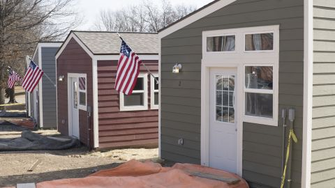 On January 29, Veterans Community Project finished the first 13 tiny homes of 50 it plans to build in Kansas City, Missouri.