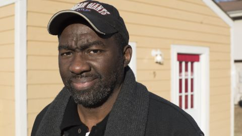 David Knox, an Air Force vet, and his wife moved into the tiny home community in January.