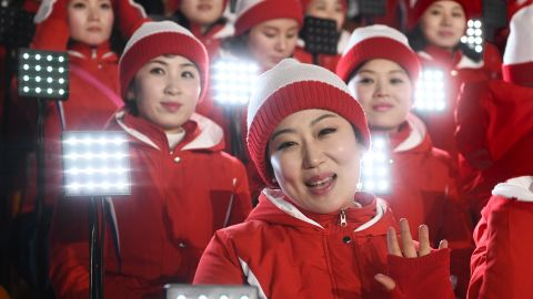Whether a symbol of diplomacy or propaganda, North Korea's cheerleading squad made for mesmerizing viewing. The 230-strong troupe could be seen singing and clapping their country's athletes -- perfectly in sync.