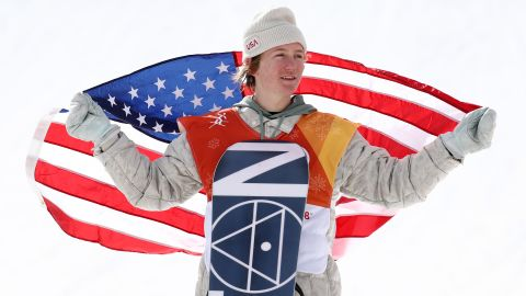 Four years after joining the US national team, Red Gerard is the Olympic champion in the men's slopestyle.