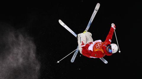 Mogul skier Daichi Hara of Japan practices at Phoenix Park.