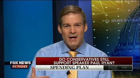 "NS Slug: FOX: REP JIM JORDAN-PAUL RYAN HAS GOT PROBLEMS  Synopsis: Rep. Jordan, a key Freedom Caucus member, says Speaker Ryan may face ""problems""  Keywords: CONGRESS SPENDING SPEAKER RYAN JORDAN BUDGET"