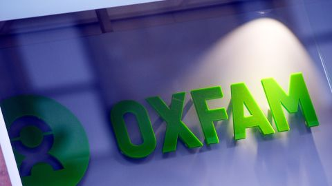The logo on the front of an Oxfam bookshop is photographed in Glasgow on February 10, 2018.  The British Government announced late on February 9 it was reviewing all work with Oxfam amid revelations the charity's staff hired prostitutes in Haiti during a 2011 relief effort on the earthquake-hit island. / AFP PHOTO / Andy Buchanan        (Photo credit should read ANDY BUCHANAN/AFP/Getty Images)
