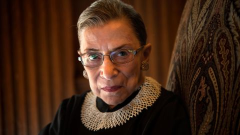 Supreme Court Justice Ruth Bader Ginsburg, celebrating her 20th anniversary on the bench, is photographed in the West conference room at the U.S. Supreme Court in Washington, D.C., on Friday, August 30, 2013. (Photo by Nikki Kahn/The Washington Post via Getty Images)