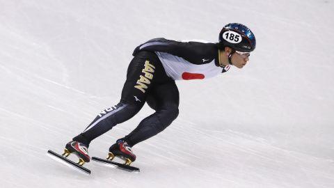 Kei Saito of Japan trains ahead of the PyeongChang 2018 Winter Olympic Games.