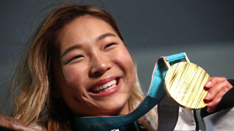 USA's 17-year-old Chloe Kim won snowboarding gold at PyeongChang 2018.