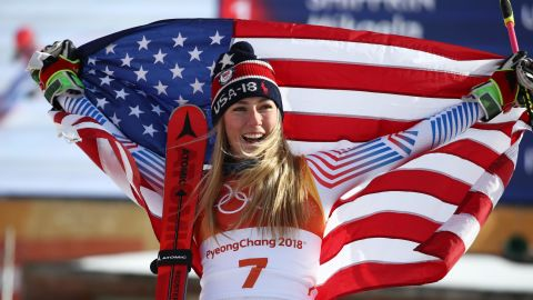 """America's sweetheart Mikaela Shiffrin was set to be the standout star of the Games. <a href=""""http://www.cnn.com/2018/02/24/sport/mikaela-shiffrin-cnn-five-golds-winter-olympics-intl/index.html"""">She took home two medals -- a gold in the giant slalom and a silver in the alpine combined, after narrowly missing out in the women's slalom. </a>"""